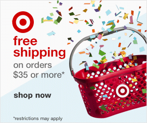 Target free shipping on orders $35 or more!