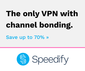 Get Speedify VPN now at 75% off!