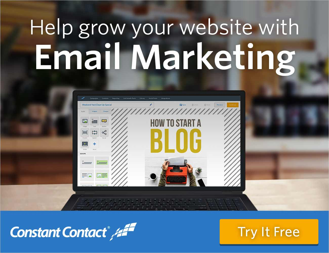 Help grow your website with Constant Contact email marketing