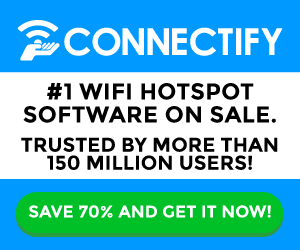 Turn your Laptop into a Wi-Fi Hotspot. Get Connectify at 70% off now!