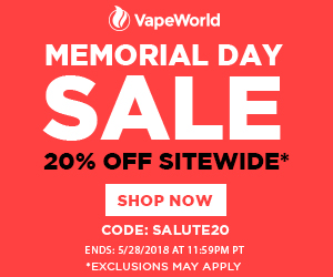 Advertisement and link Memorial Day Sale. Get 20% off site wide with coupon code: SALUTE20. Exclusions may apply. Get a FREE MJ Arsenal Commander with purchase over $100. Expires May 28, 2018 at 11:59PM PT.