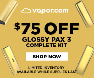 $75 OFF PAX 3 GLOSSY COMPLETE KIT. No coupon code. Limited quantities, available while supplies last.