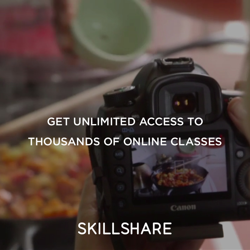 Learn on Skillshare