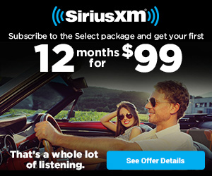 Get 12 months Select SiriusXM service for only $99