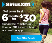 Get 6 months of SiriusXM Streaming for only $30