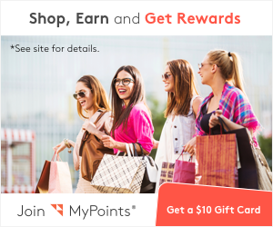 Join MyPoints. Shop, earn and get rewarded! Get $10 sign on bonus when you spend $20+