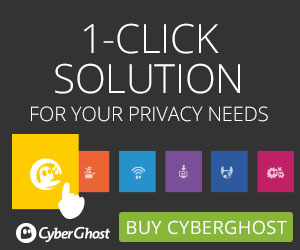 CyberGhost is a 1-click solution for your all your privacy needs.