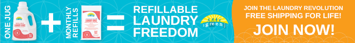 One Jug + Monthly Refills = REFILLABLE LAUNDRY FREEDOM! JOIN NOW!