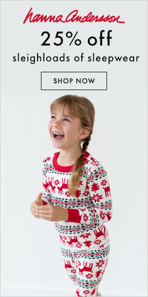 Save 25% on sleighloads of sleepwear at Hanna Andersson!