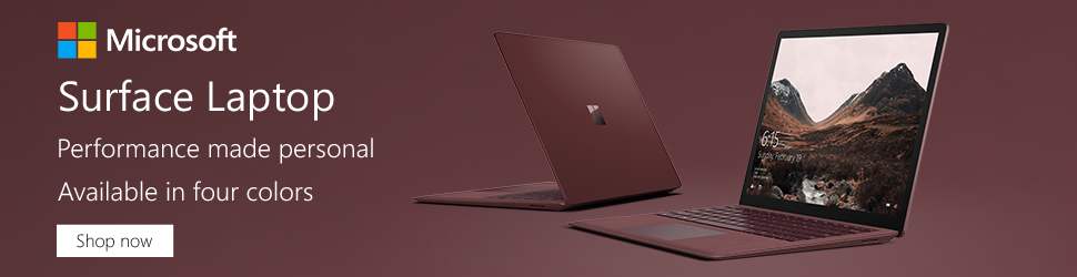 Surface Laptop Available in Four Colors