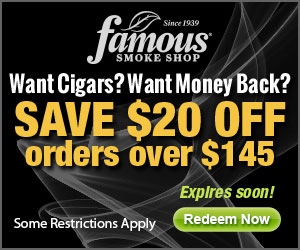 Get your cigars for less with the Famous Smoke Shop seasonal deal!