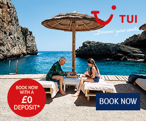 Book now with no deposit on a TUI Payday deal