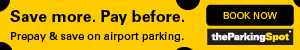 Save More. Pay Before. The Parking Spot airport Parking.
