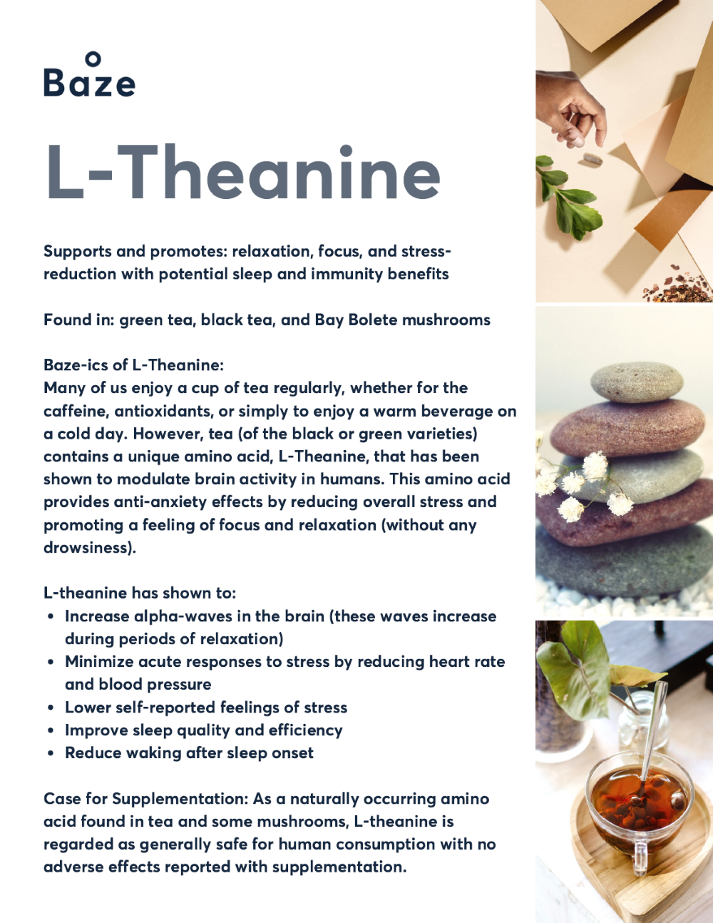 Health Benefits of L-Theanine