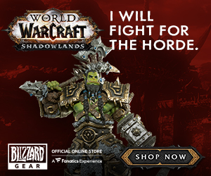 Shadowlands Thrall Statue at Blizzard Gear Store