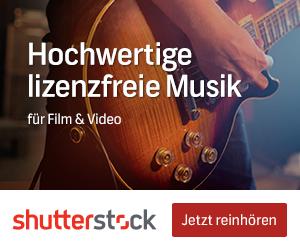 Shutterstock Gutschein für lizenzfreie Musik
