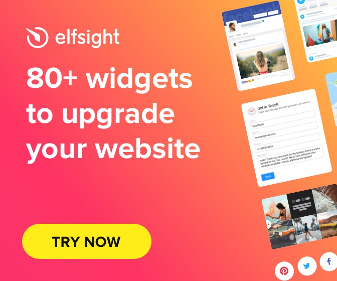 Elfsight widgets for your website