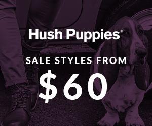 Hush Puppies - End of Season Sale - 300x250