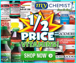 MyChemist - 1/2 price Vitamins - 300x250