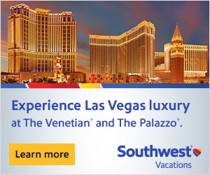 Southwest Vacations banner