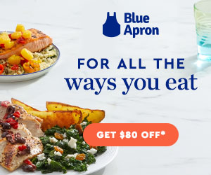 Blue Apron $80 Off first 4 boxes meal delivery coronavirus