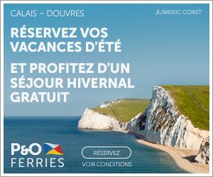 Promo P&O Ferries calais douvres