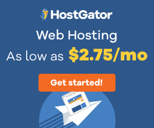 HostGator advertisement and affiliate link