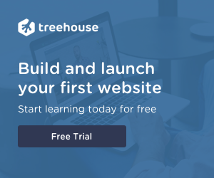 Screenshot of Treehouse's free trial