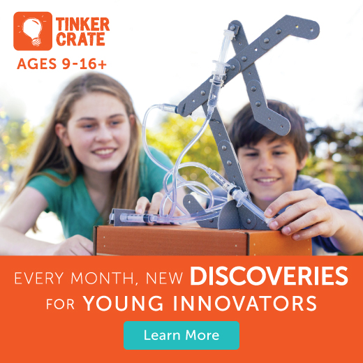 tinkercrate for Homeschool store page