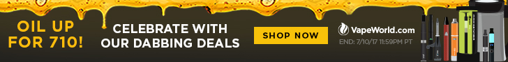 Advertisement for 710 Deals. O.Pen FIY BOGO, 5 vape pens at 25% off, and buy MagicalButter receive free G Pen Liquid Vaporizer & R Series Roil - Expires July 10, 2017 at 11:59PM Pacific Time. Restrictions apply.