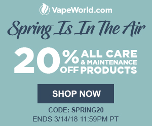 Advertisement and link for Spring Cleaning Sale. Get 20% off care and maintenance products with code: SPRING20. Free Higher Standards Dot Wipes on all orders over $100 (no code required). Expires March 14, 2018 at 11:59PM Pacific Time.