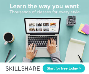 Click here to get a 2 month free trial of Skillshare Premium for a limited time!