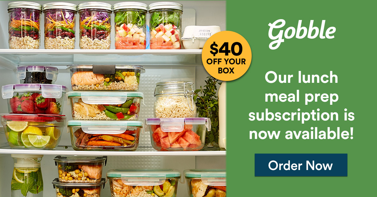 gobble coupon $40 off gobble box food delivery