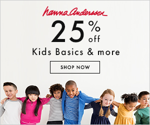 Save 25% on kids basics and more at Hanna Andersson!