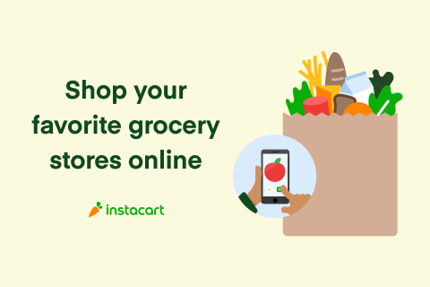Image of Instacart Ad. Click to Support