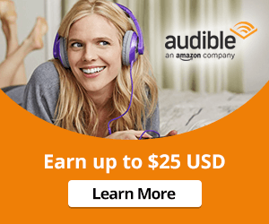 Earn up to $25 with a three month trial of Audible.com!