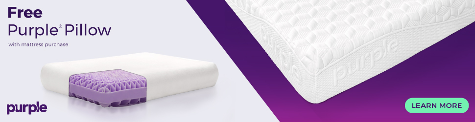 Free Purple Pillow With Any Mattress Purchase