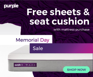 Purple memorial day sale