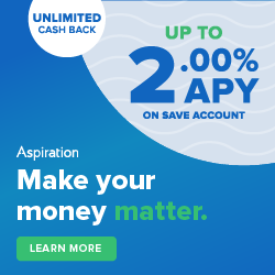 Get 2.00% APY and cashback debit from Aspiration