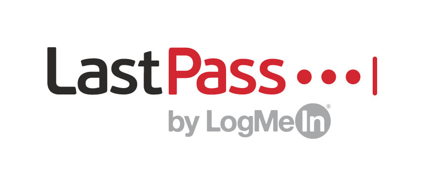LastPass by LogMeIn logo in red and black