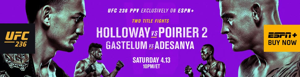 UFC 236: Holloway vs. Poirier 2 in Atlanta