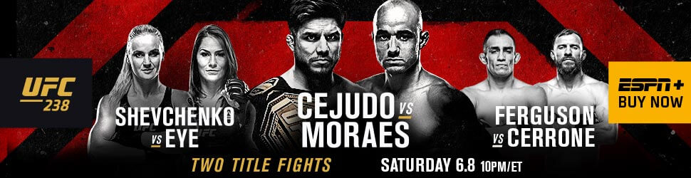 UFC 238 Live Stream on ESPN+: Cejudo vs. Moraes in Chicago