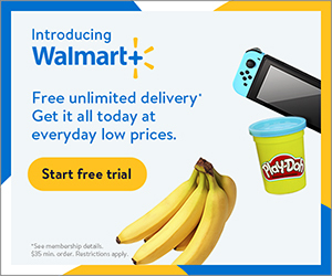 Get Free Unlimited Delivery at Walmart